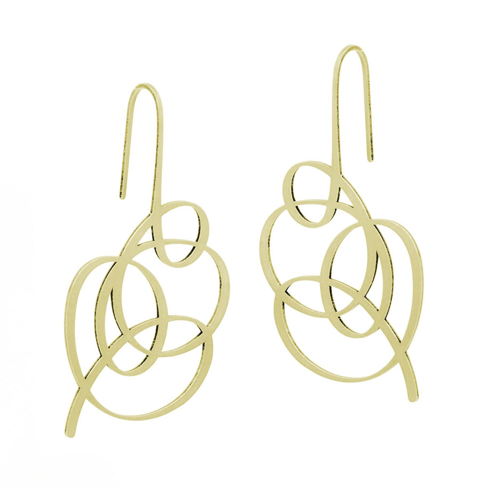 Wisp Earrings - 22ct Matt Gold Plate EARRINGS