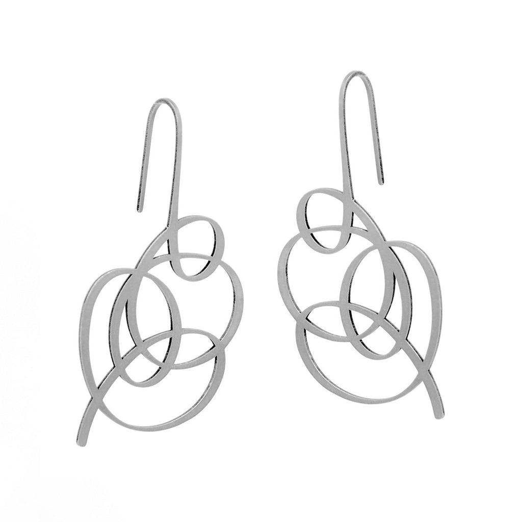 Wisp Earrings - Raw Stainless Steel EARRINGS