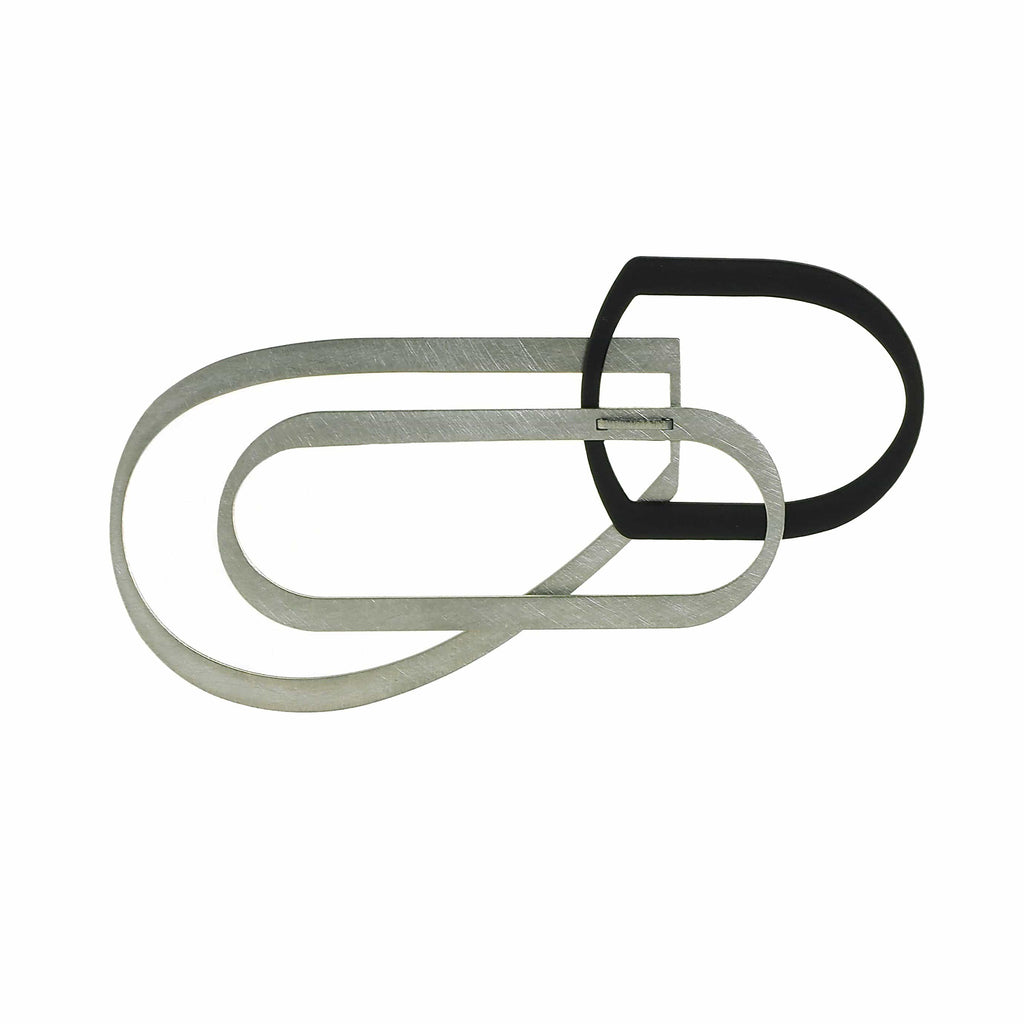 X2 Bend Brooch - Black/Raw BROOCH