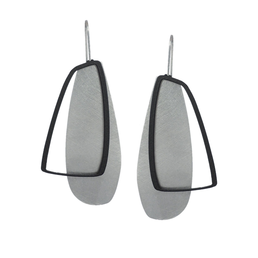 X2 Large Solid Earrings - Raw/ Black - inSync design