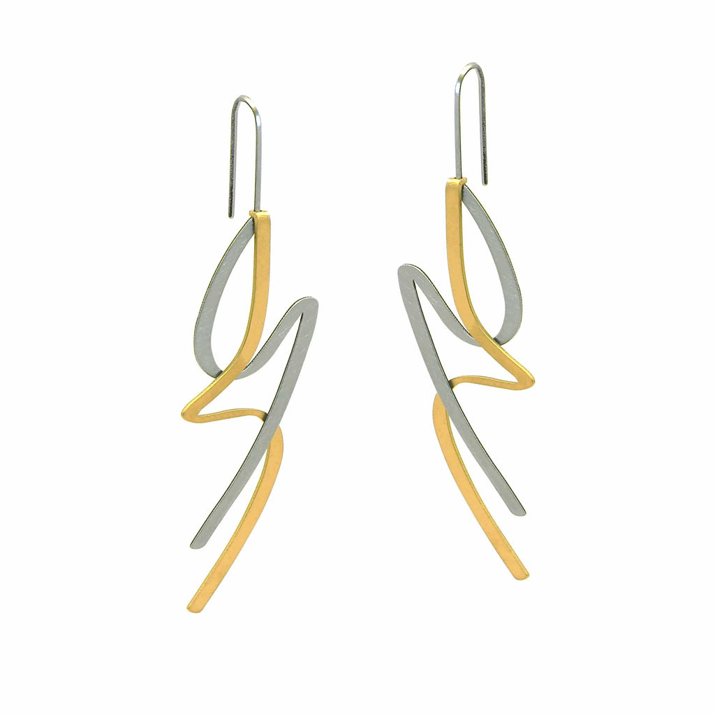 X2 Lithe Earrings - Gold/ Black EARRINGS