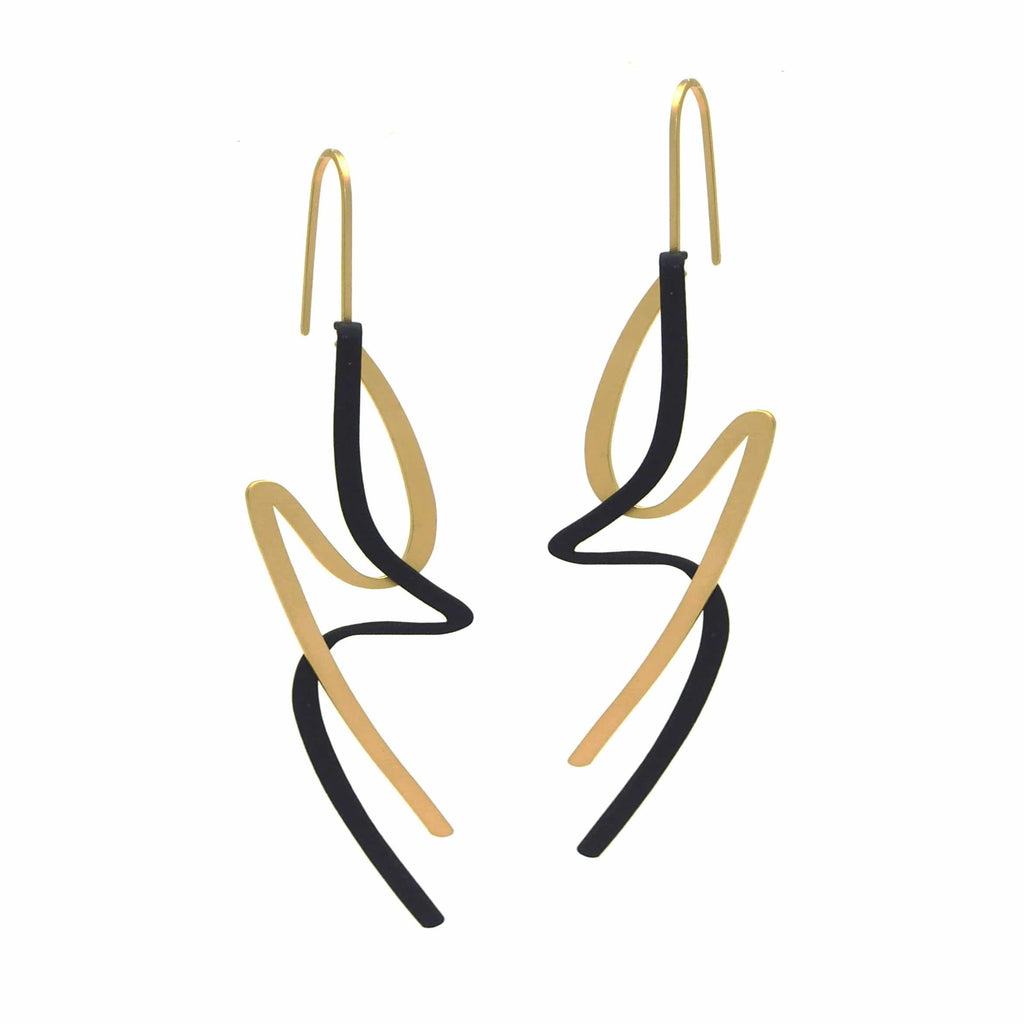 X2 Lithe Earrings - Raw/ Black EARRINGS