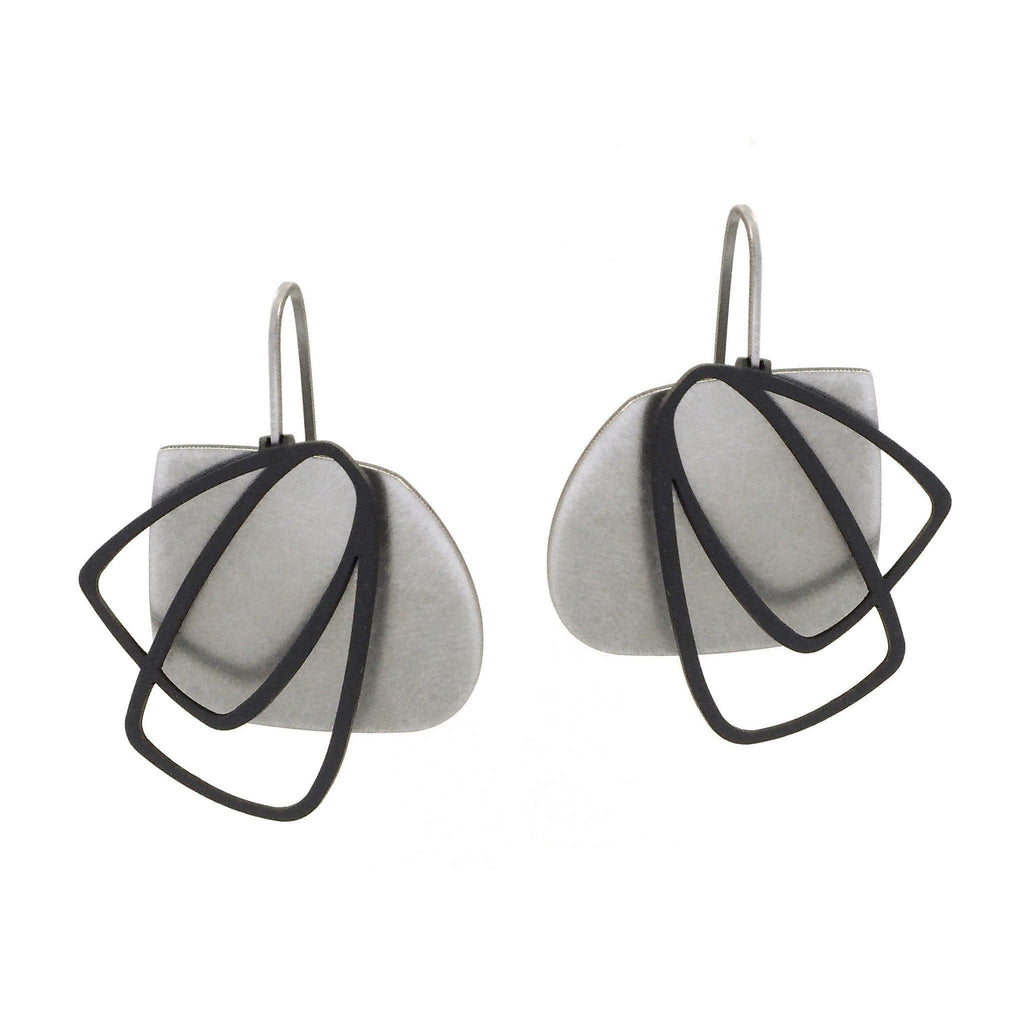 X2 Medium Solid Earrings - Raw/ Black EARRINGS