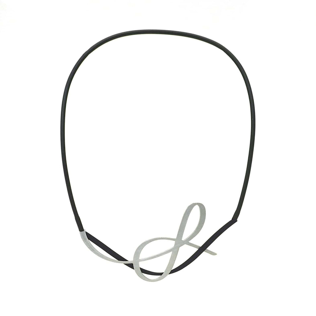 X2 Tangle Necklace - Black/Raw NECKLACE