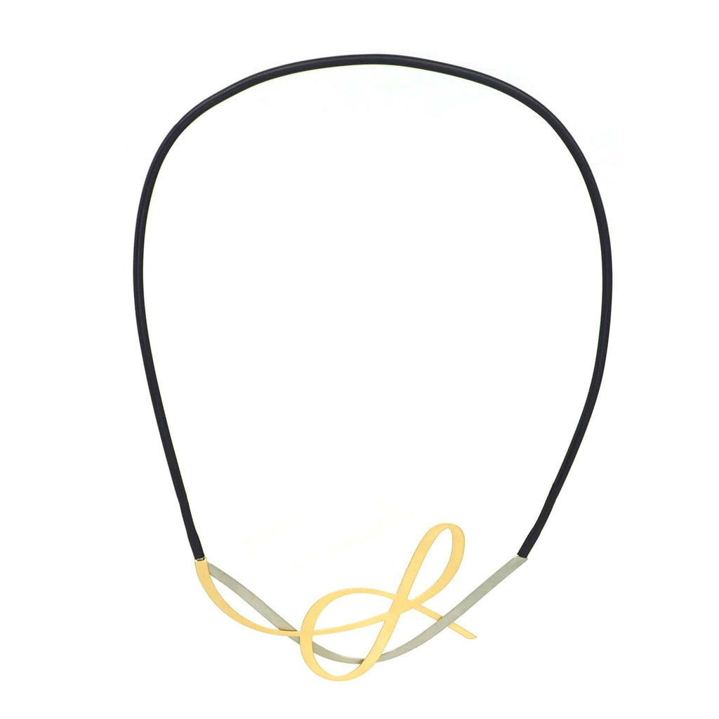 X2 Tangle Necklace - Gold/ Black NECKLACE