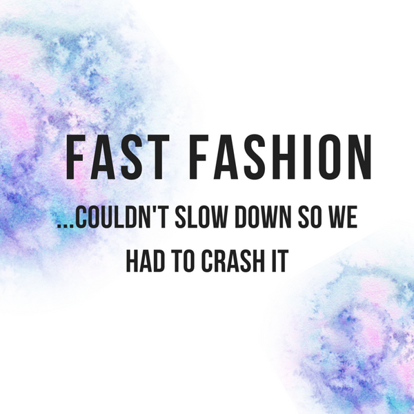 Fast Fashion...couldn't slow down so we had to crash it