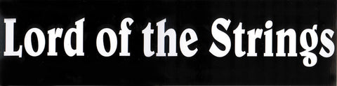 Lord of the Strings Bumper Sticker