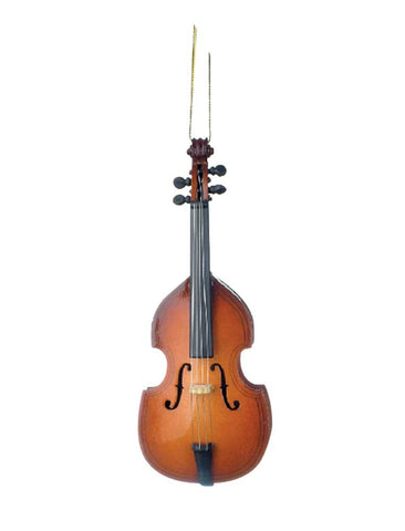 Upright Bass Christmas Ornament