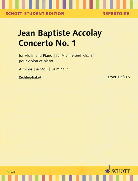 Accolay-Concerto-No-1-Violin-Music
