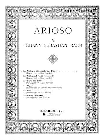 Bach-Arioso-Cello-Music-Schirmer