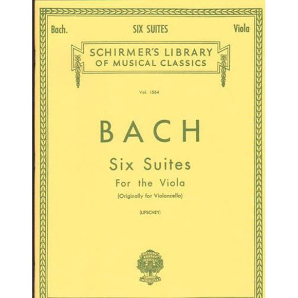 Bach-Six-Suites-for-the-Viola-Schirmer's-Library-of-Musical-Classics