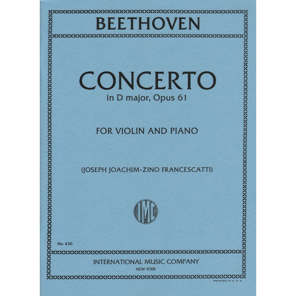 Beethoven-Concerto-D-Major-Opus-61-Violin-Music-International
