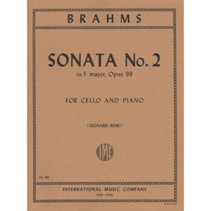 Brahms Sonata No.2 in F Major Op.99 for Cello and Piano