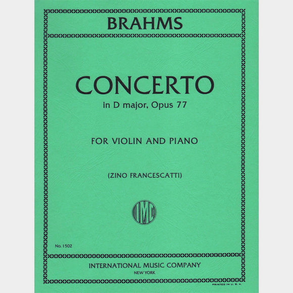 Brahms-Concerto-D-Major-Violin-Music-International