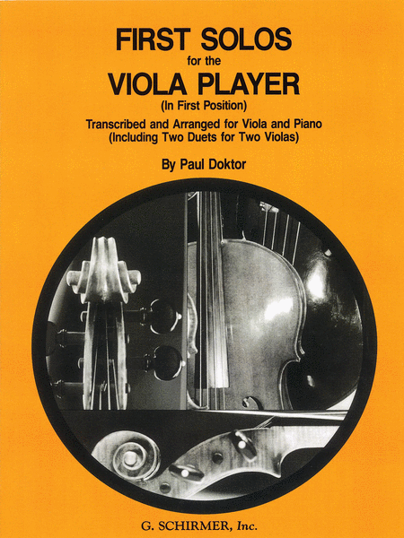 First-Solos-for-the-Viola-PlayerIn-First-Position-Transcribed-and-Arranged-for-Viola-and-Piano-Including-Two-Duets-for-Two-Violas