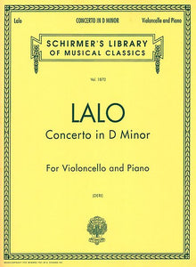 Lalo-Concerto-D-Minor-Cello-Music-Schirmer