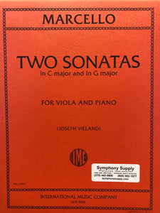 Marcello Two Sonatas in C Major and in G Major for Viola and Piano