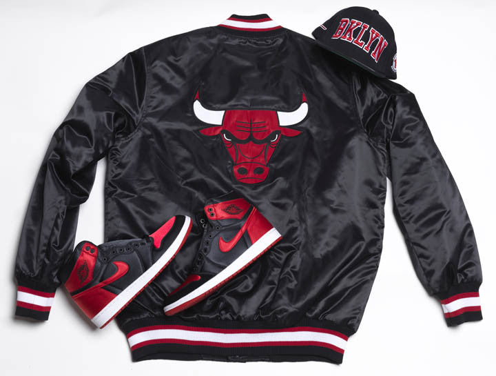 Jordan Heads Brooklyn x Walker Wear Starter Bulls Starter Jacket: BLACK