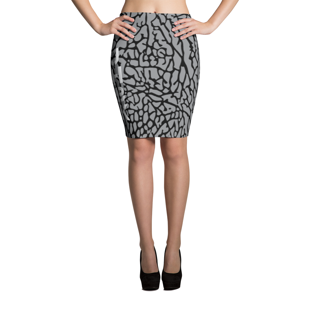 Cement All Over Pencil Skirt