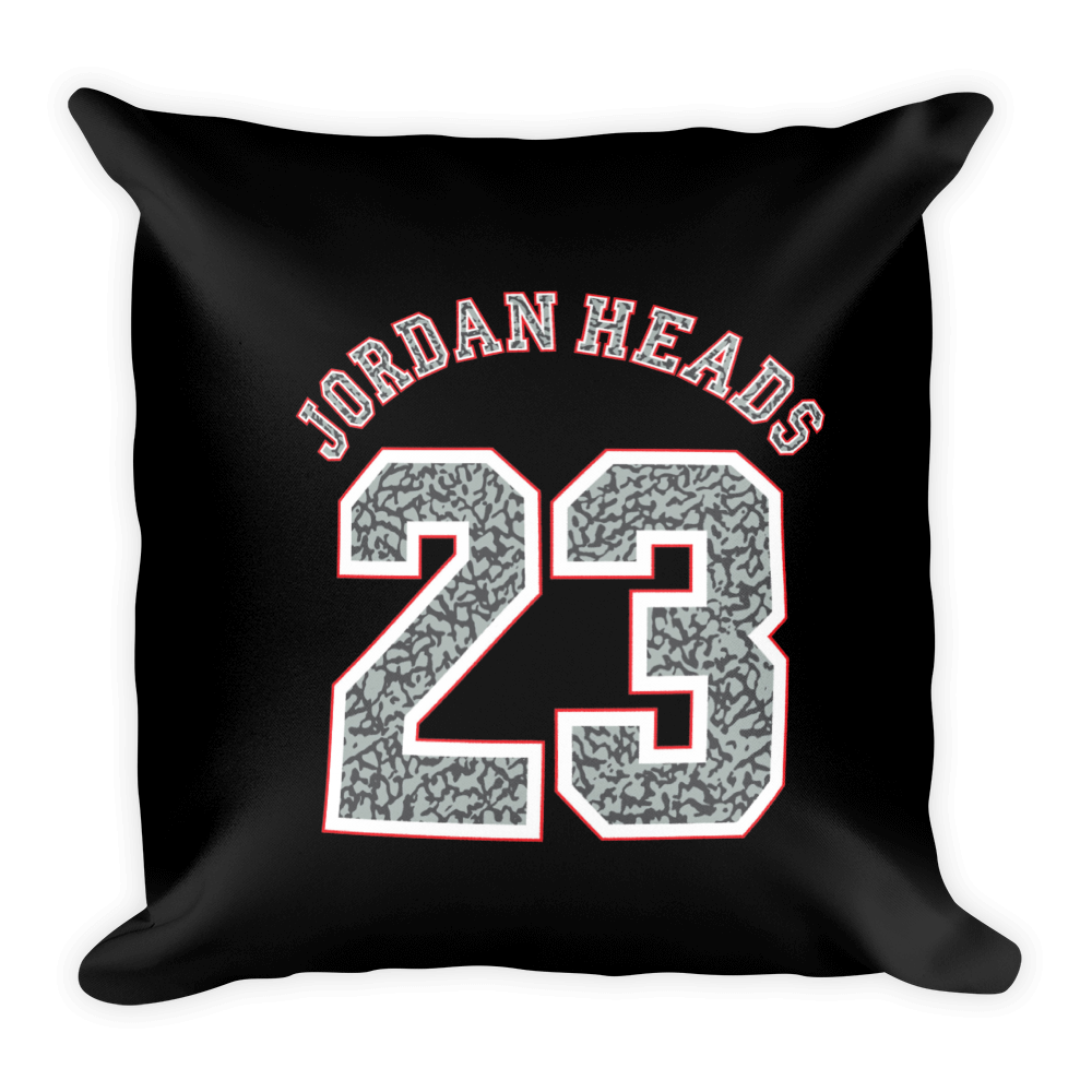 Jordan Heads 23 Square Pillow