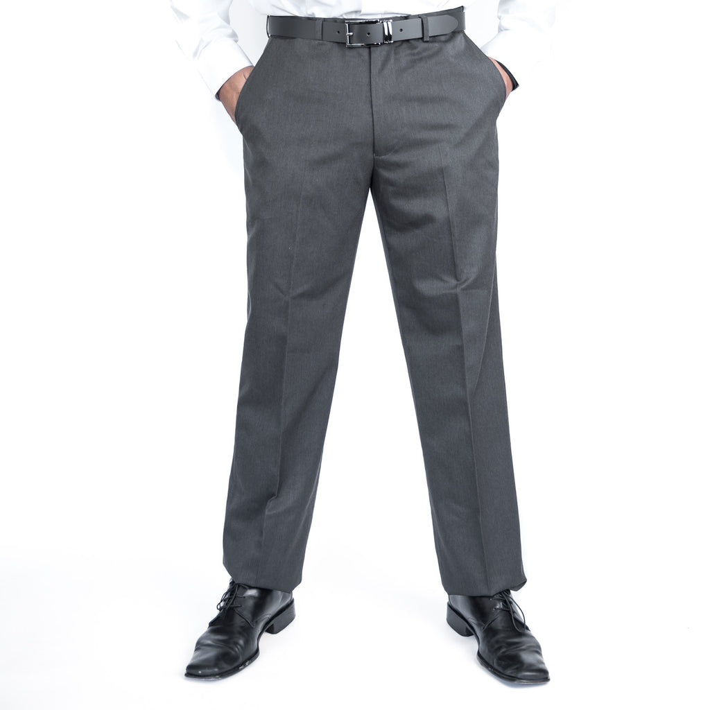 Charcoal Flexi-Waist Paul Mason Trousers