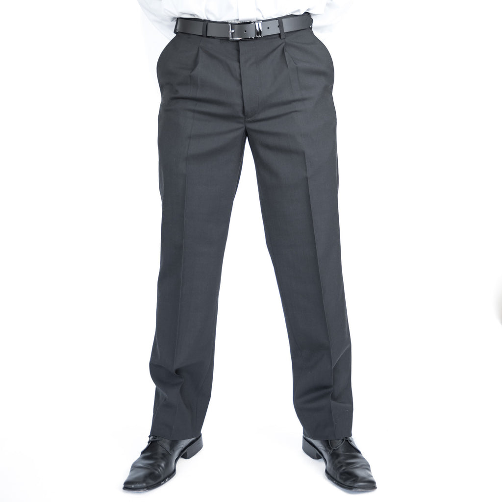 Black Pleated Team Trousers