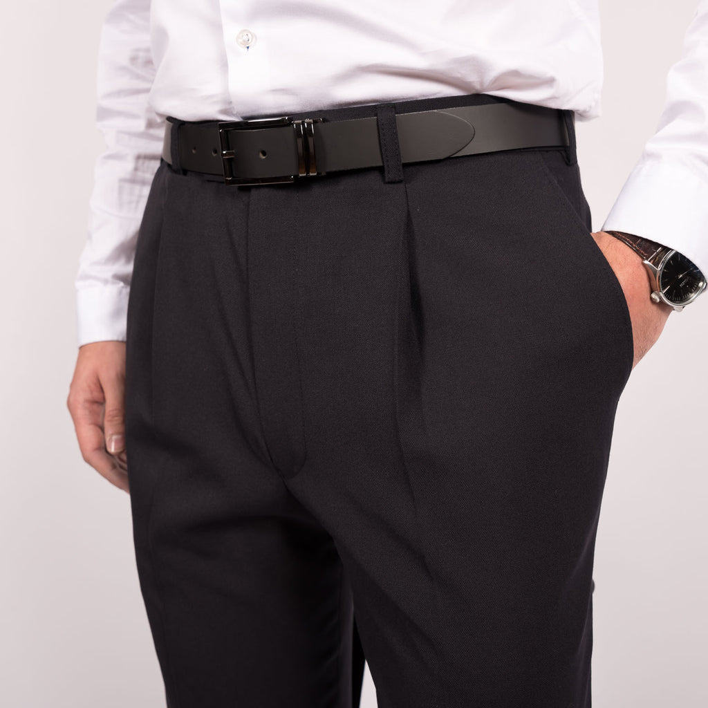 Black Flexi-Waist Paul Mason Trousers