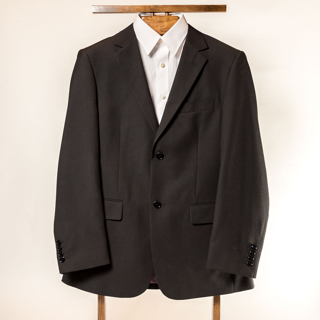 Black 2 Button Slim Andre Bini Suit