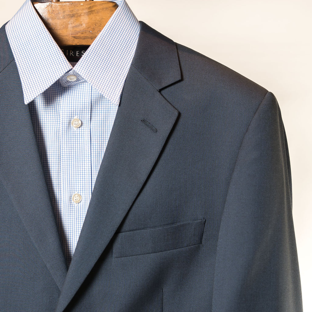 Navy 2 Button Slim Andre Bini Suit