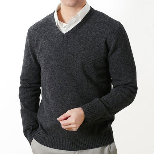 Charcoal V Neck Fratelli Knit