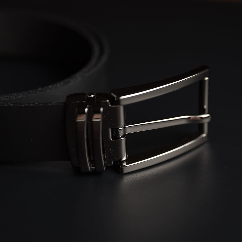 Black Jackson Leather Belt