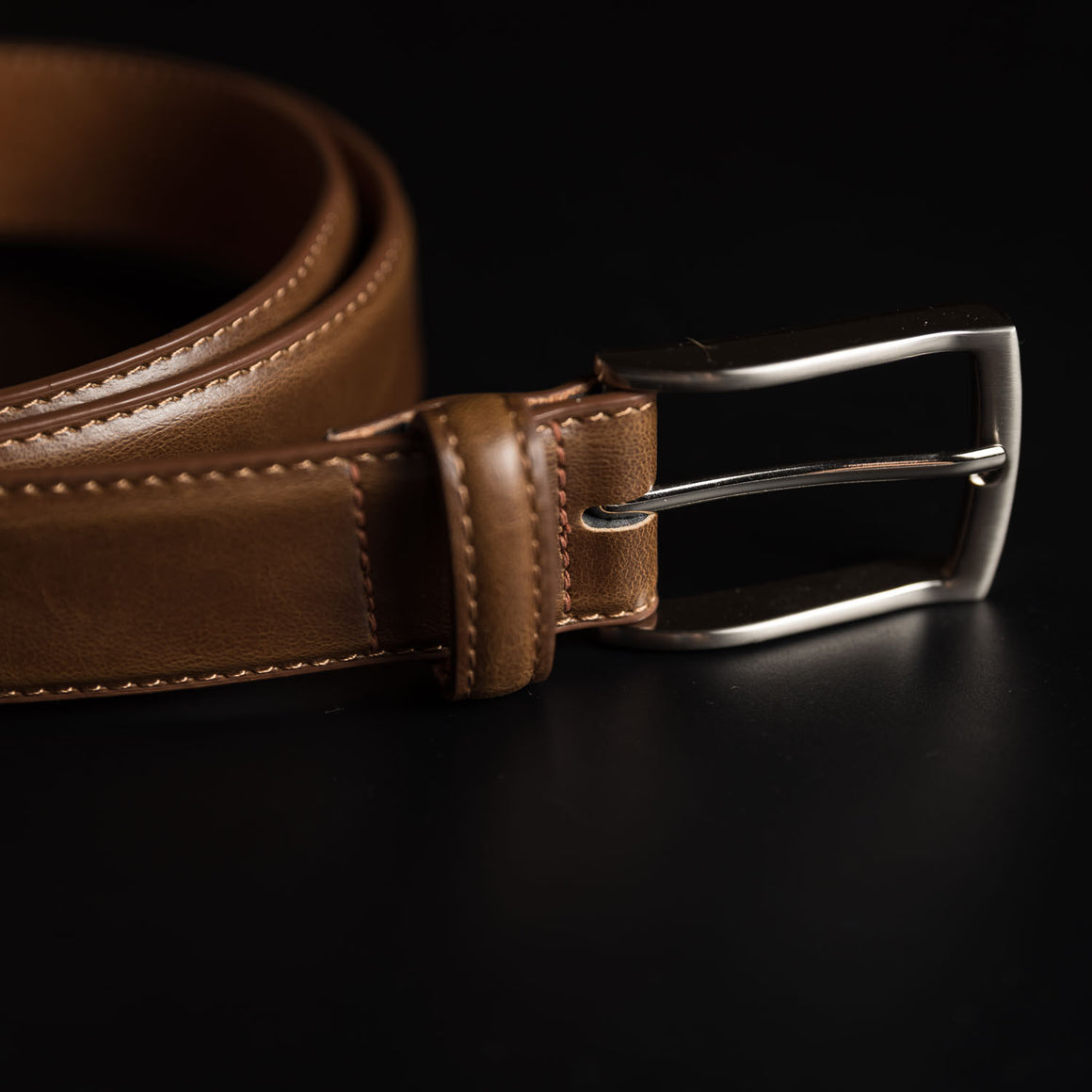 Brown Buffalo Leather Belt