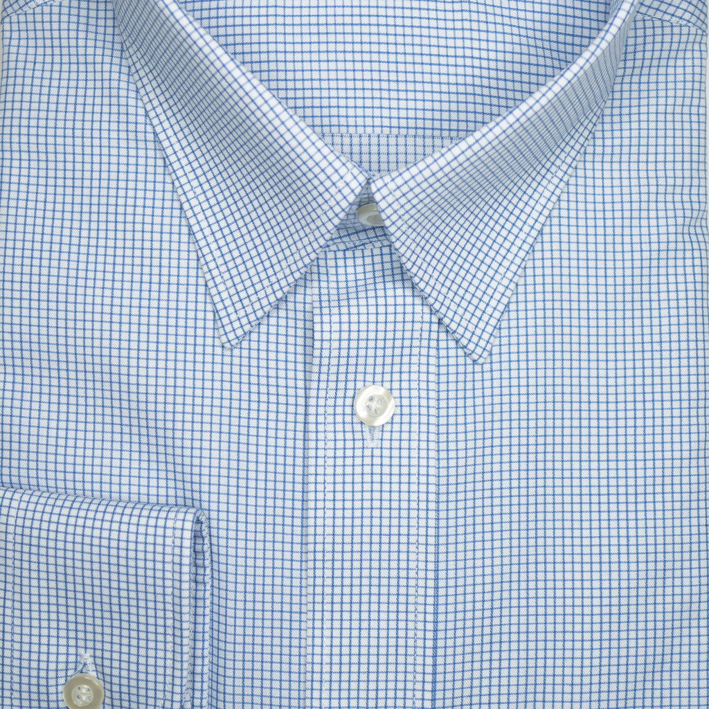 Blue Check Continental Sires Business Shirt