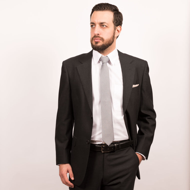 Charcoal Classic 2 Button Modotti Suit