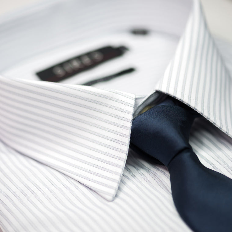 Grey Stripe Continental Sires Business Shirt