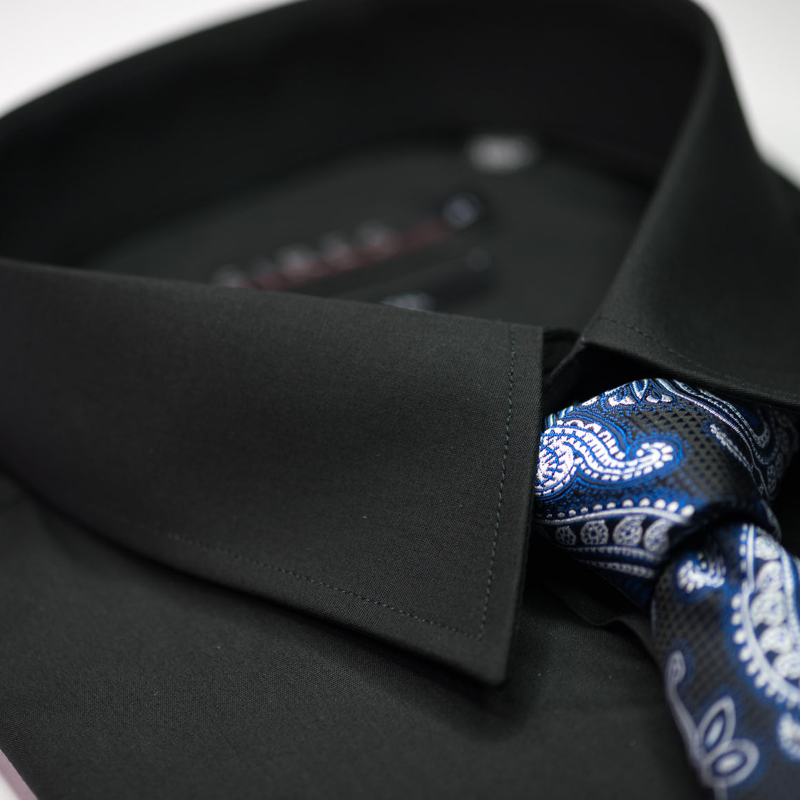 Black Continental Sires Business Shirt