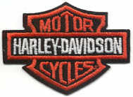 Bar and Shield Harley Orange Patch 14cm - rodehawg