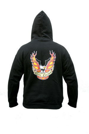 Exile Cycles - Exile Eagle on Black Hoodie - rodehawg