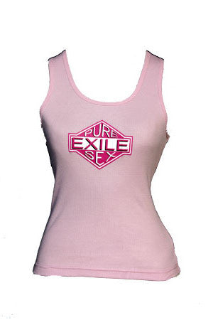 Exile Cycles Girls Pure Sex,  Pink Vest T-shirt - rodehawg