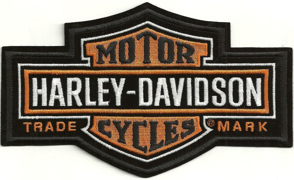 Long Bar and Shield Harley Patch 11cm