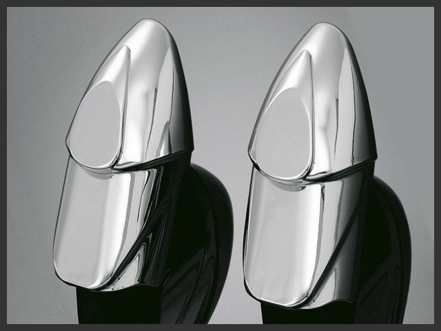 Chrome Fork End Covers (Pair) Highway Hawk 47-200 - rodehawg
