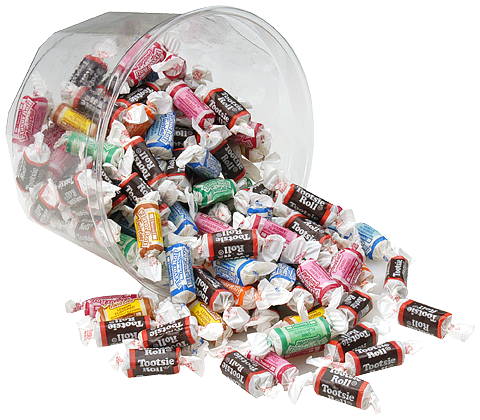 Tootsie Roll Assorted - (9) 28 oz tubs/case