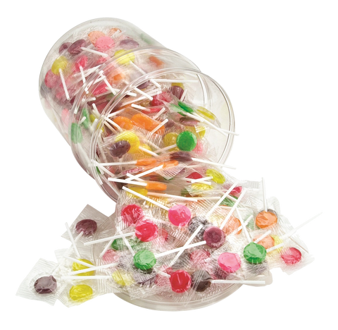 Sugar Free Lollipops - (6) 2 lb tubs/case
