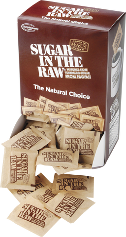 Sugar in the Raw - (2) 200 pk boxes/case
