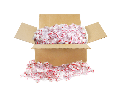 Peppermint Puffs - (1) 10 lb box
