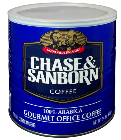Chase and Sanborn 100% Arabica Coffee - (6) 34.5 oz cans/case