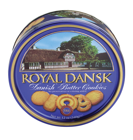 Royal Dansk Danish Butter Cookies - (12) 12 oz tins/case