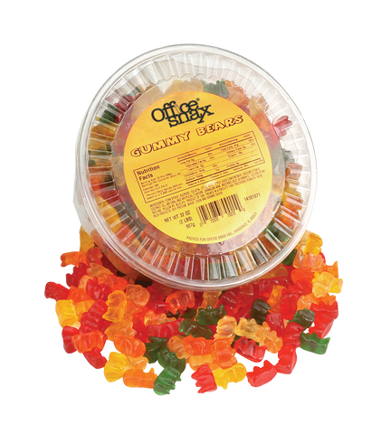Gummy Bears - (12) 2 lb tubs/case