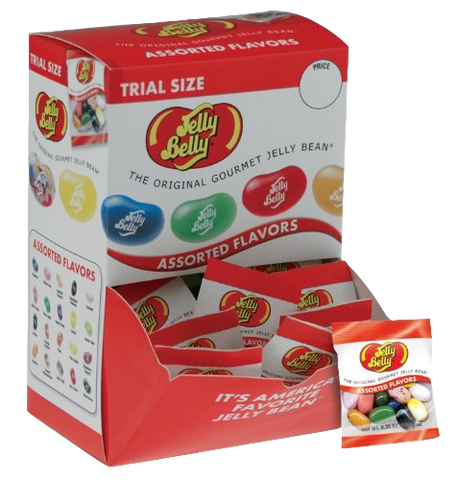Jelly Belly 0.35 oz Assorted Flavor Bags - (4) 80 ct boxes/case