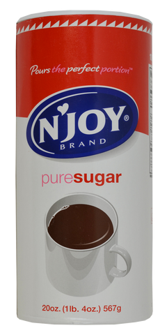N'Joy Sugar - (24) 20 oz canisters/case